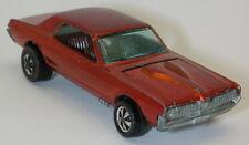 Redline Hotwheels Orange 1968 Custom Cougar  oc10093