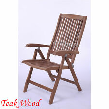 Outdoor Teak Wood Foldable Adjustable Arm Chair 3A108S