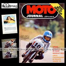 MOTO JOURNAL N°229 MOTO CROSS DANIEL PEAN DENIS VIMOND MORINI 125 BPS ELAN 1975