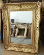 """Large Gold Wood/Resin """"40x52"""" Religious Rectangle Beveled Framed Wall Mirror"""