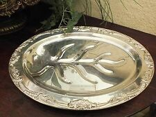 "Vtg F.B. Rogers Silverplate Footed Meat Tray ""CALIFORNIA Mid-Winter Fair 1964"""