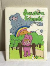 Vintage Dirty Kids Vanity Compact Sunshine Friends Mirror Toy 1981 Minnetonka MN