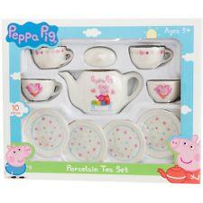 Peppa Pig Porcelain Teaset Childrens Kids Role Play Toy Tea set New