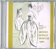 1960s Modes Royale Catalog 24 Pg Ebook on CD Fall Winter 1960 Dresses Suits More