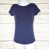 Ann Taylor Petite blue boat neck short sleeve top SP NWT