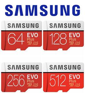 Micro SD Card Samsung Evo Plus 32GB 64GB 128GB 256GB C10 Ultra Extreme Memory