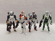 """Custom 1/18 Microman Clone Republic Commando Delta Squad Star wars 4"""" Set"""