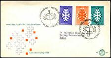Netherlands 1969 Queen Wilhelmina Cancer Fund FDC First Day Cover #C36092