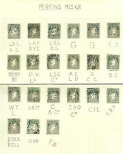 IRELAND PERFINS 1922-68 MAP 2d...21 stamps