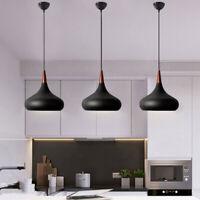3X Kitchen Pendant Light Wood Chandelier Lighting Bar Lamp Modern Ceiling Lights