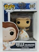 Funko Pop Disney Beauty and The Beast #247 Belle Celebration + Protector DAMAGED