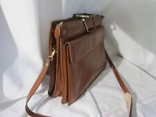 Vintage European Brown Leather Messenger Breifcase Bag Nice True Vintage #28
