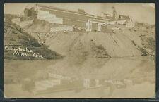 Rare AZ Miami RPPC 1910's COPPER MINE CONCENTRATOR MILL Tailing Dump & Pond