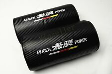 2Pcs Car Mugen Power Vip Carbon Fiber Embroidery Neck Cushions Pillow Headrests