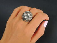 Cute Design Vintage Jewelry Sterling Silver 925 Woman Fashion Ring Size 8