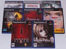 Lot 8 jeux Sony PS2 Survival Horror Silent Hill 3 Resident Evil Forbidden Siren