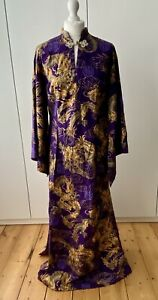RARE DI BROOKS OF OUTERLIMITZ VINTAGE TRADITIONAL CHINESE L/S QIPAO / CHEONGSAM
