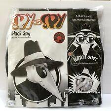 Spy vs Spy Black Spy Adult Halloween Costume Accessories Kit Hat & Mask New Open