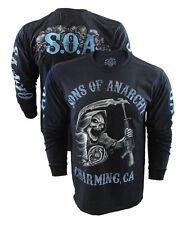 Authentic SOA  LONG SLEEVE T-Shirt SAMCRO Redwood Original Sons Of Anarchy Mayan