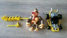 Donkey Kong - MarioKart N64 Action Figure with motorized Kart 1999 Video Game