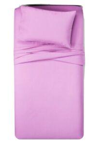 Purple Pillowfort 3pc Toddler Solid 100% Cotton Sheet Set