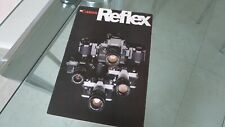 Canon Reflex VINTAGE brochure, Canon F1 & EF and others