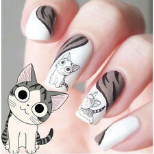 Nail Art Sticker Water Transfer Stickers Cute Cat Decals Tips Decoration 2 Sheet