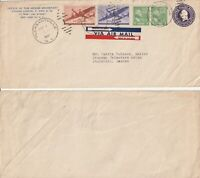 US 1947 COMMERCIAL FLIGHT COVER PLEASANTVILLE NY TO STOCKHOLM SWEDEN