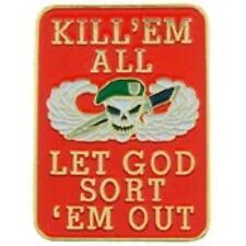 AMERICAN PARA KILL'EM ALL LET GOD SORT'EM OUT LAPEL PIN