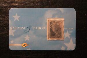 Timbre en argent -  FRANCE - Marianne et l'Europe - neuf** - n°4242 - année 2008