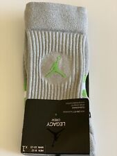 Nike Air Jordan Mens Elite Basketball NBA Crew Socks Green Gray Men's 8-12 NWT