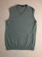 JAMES PRINGLE • Pale Green • 100% Lambswool Sleeveless Jumper Pullover • L Large