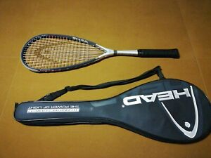 Head Titanium Ti 150 Squash Racquet Racket power zone W Case Black Gray Used