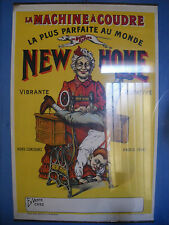 AFFICHE LITHO 1900 LA NEW HOME MACHINE A COUDRE ORIGINAL couture