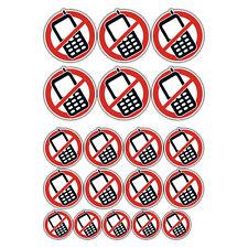 No admite teléfonos móviles Advertencia Pegatinas Conjunto a granel