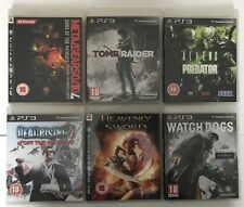 6 X PS3 Game Bundle+Watch Dogs+Dead Rising 2+Aliens Vs Predator+Many More (688)