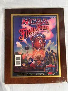 1998 NCAA Mens Basketball San Antonio Final Four Program Wood Plaque, Kentucky