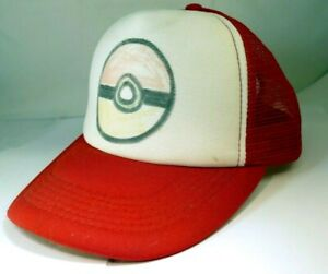Cosplay Hat Mesh Cap with Plastic Snap Closure & mesh  - Adult Pokemon