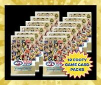 12 x 2020 AFL TEAMCOACH SEALED PACKS FOOTY TRADING CARDS TEAM COACH RANDOM PICK