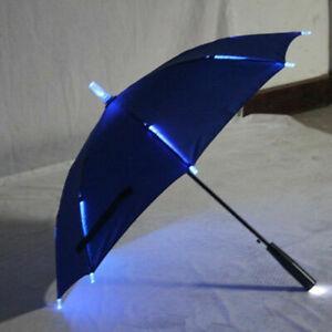 Umbrella With LED Light Up Changing Color Flashlight Straight Umbrellas Prop80cm