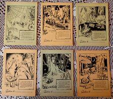 Collezione completa 6 antichi quaderni scolastici 1945 NUOVI Cartiera PUBLINEON