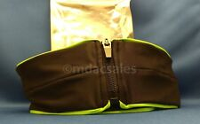 """NEW! FASHION RUNNING BELT SIZE SMALL 26""""-28"""", BLACK WITH NEON GREEN TRIM"""