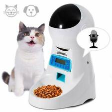 Automatic Pet Feeder Dog Cat Programmable Animal Food Bowl Timed Home Dispenser~