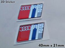 2x Audi RS2 3D Sticker Logo