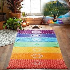 Rainbow Chakra Tapestry Towel Yoga Mat Sunscreen Shawl Tapestry Hippy Boho Gyps