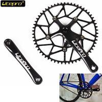 Litepro Ultralight Hollow 130BCD 50-58t Bike Crankset Chainring 170mm Crank Set