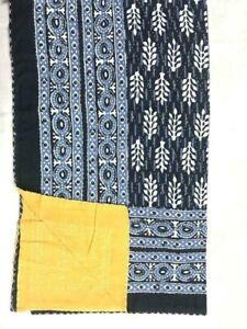 Indian Handmade Quilt Vegetabl Kantha Bedspread Throw Cotton Blanket Gudri Queen