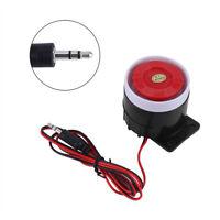 12V 110dB Sirena ruidosamente con Cable Cuerno sistema de alarma hogar sonido