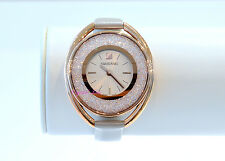 Swarovski Authentic Crystalline Oval Rose Gold Watch 5158544 Brand New In Box