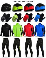 Cycling Windstopper Jacket Gloves Cap and Thermal Roubaix trouser Winter Kit